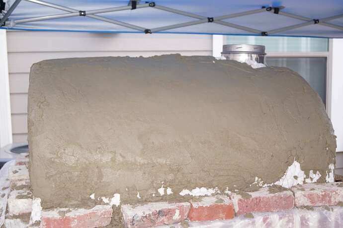 Refractory Cement Pizza Oven (110)