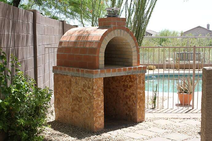 How To Build a Wood Fired Brick Oven (14)