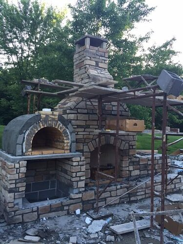 Outdoor Stone Fireplace (3)