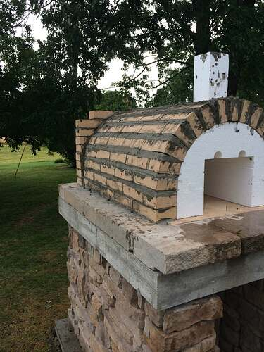 Making An Outdoor Pizza Oven (17)