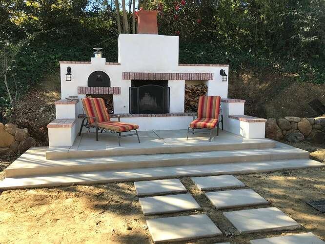 Pizza Oven and Fireplace