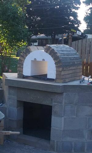 Outdoor Fireplace Pizza Oven Combo (4)
