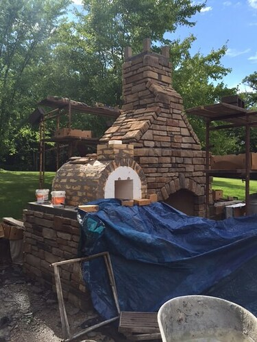 Outdoor Stone Fireplace (2)