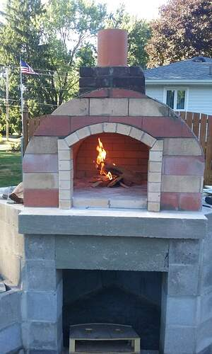 Outdoor Fireplace Pizza Oven Combo (13)