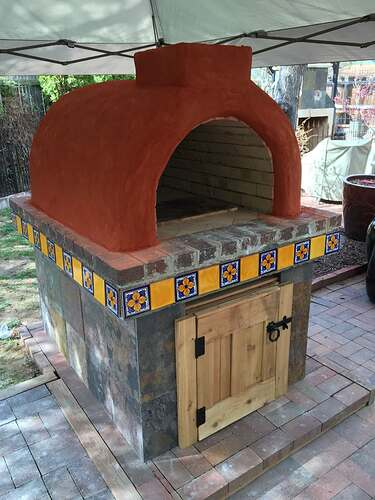 Homemade Outdoor Pizza Oven (41)