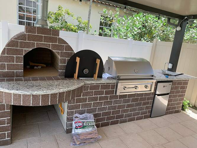 Combination Grill Smoker Pizza Oven