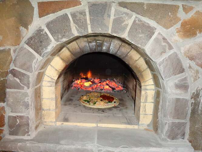 Outdoor Natural Stone Fireplace (25)