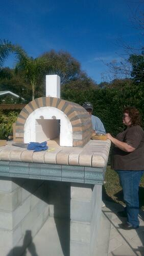 Pizza Oven Painted Stucco (1)