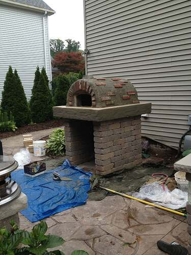 How To Build An Outdoor Brick Oven (85)