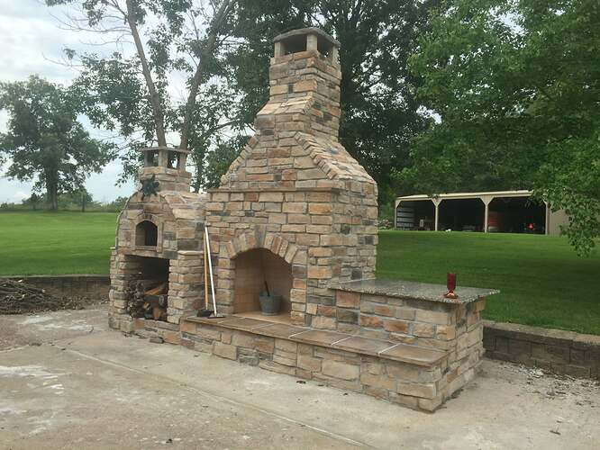 Outdoor Stone Fireplace (9)