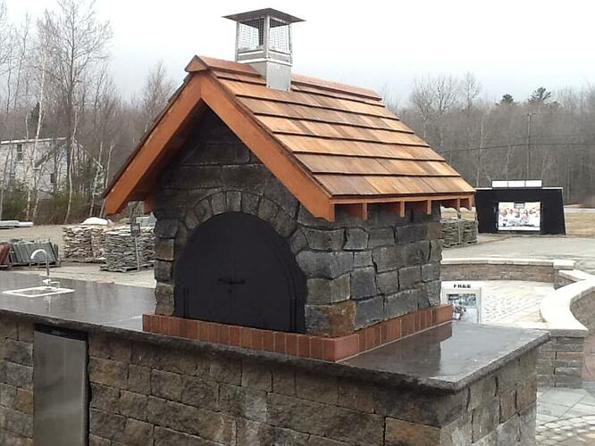 Pizza Oven Gable Roof