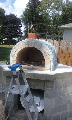 Outdoor Fireplace Pizza Oven Combo (7)