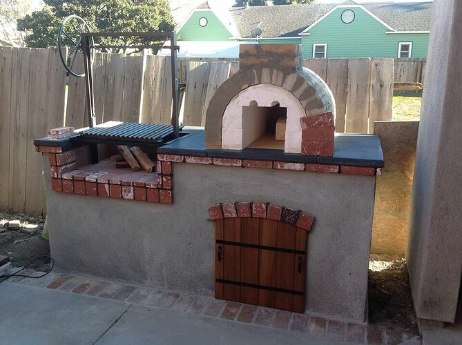 How To Build a Brick BBQ and Pizza Oven (16)