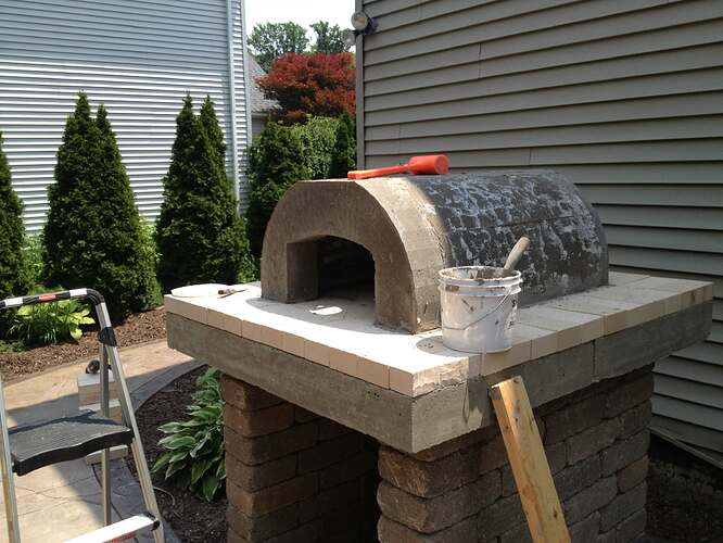 How To Build An Outdoor Brick Oven (62)