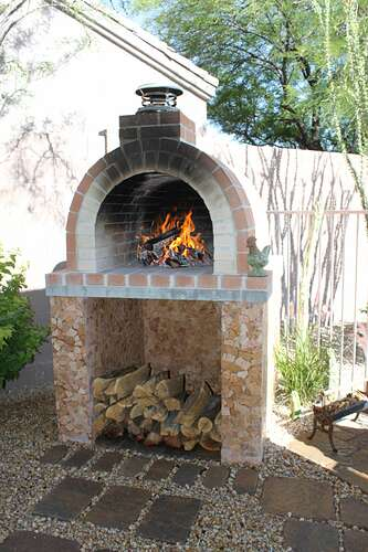 How To Build a Wood Fired Brick Oven (26)