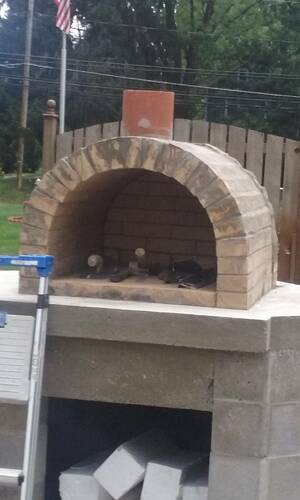 Outdoor Fireplace Pizza Oven Combo (5)