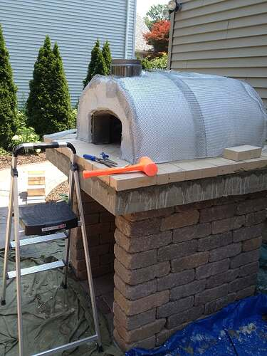How To Build An Outdoor Brick Oven (71)