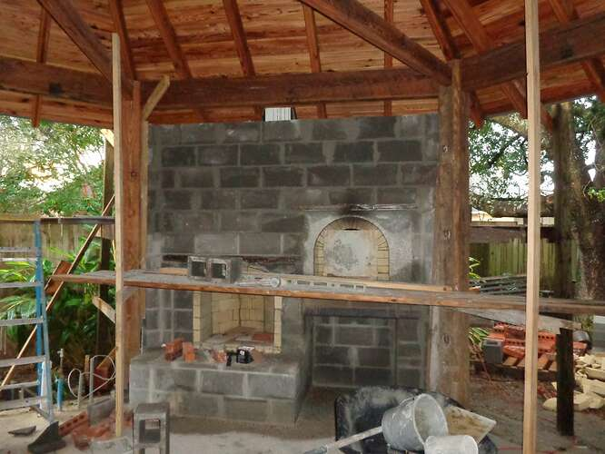 Outdoor Natural Stone Fireplace (17)