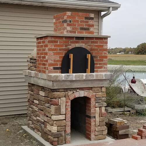 How To Make A Brick Oven (14)