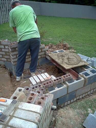 Making a Outdoor Pizza Oven (3)