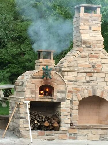 Outdoor Stone Fireplace (6)