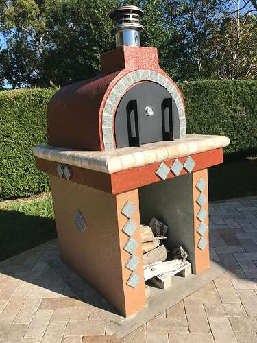 Pizza Oven Painted Stucco (4)