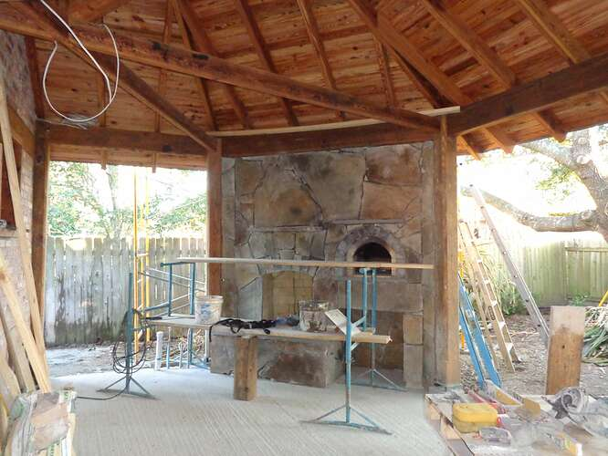 Outdoor Natural Stone Fireplace (19)