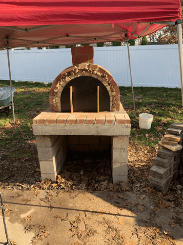 Homemade Wood Fired Pizza Oven (9)