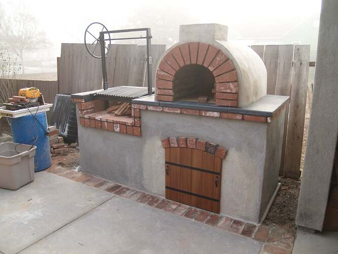 How To Build a Brick BBQ and Pizza Oven (19)