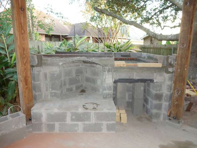 Outdoor Natural Stone Fireplace (1)