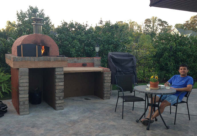 Build A BBQ And Pizza Oven (24)