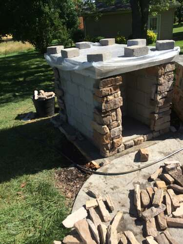 Making An Outdoor Pizza Oven (7)