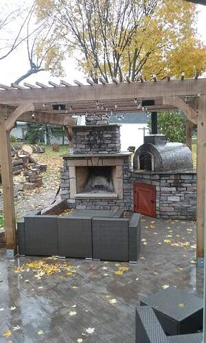 Outdoor Fireplace Pizza Oven Combo (18)