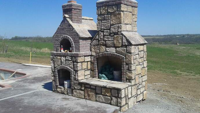 Concrete Outdoor Fireplace (2)