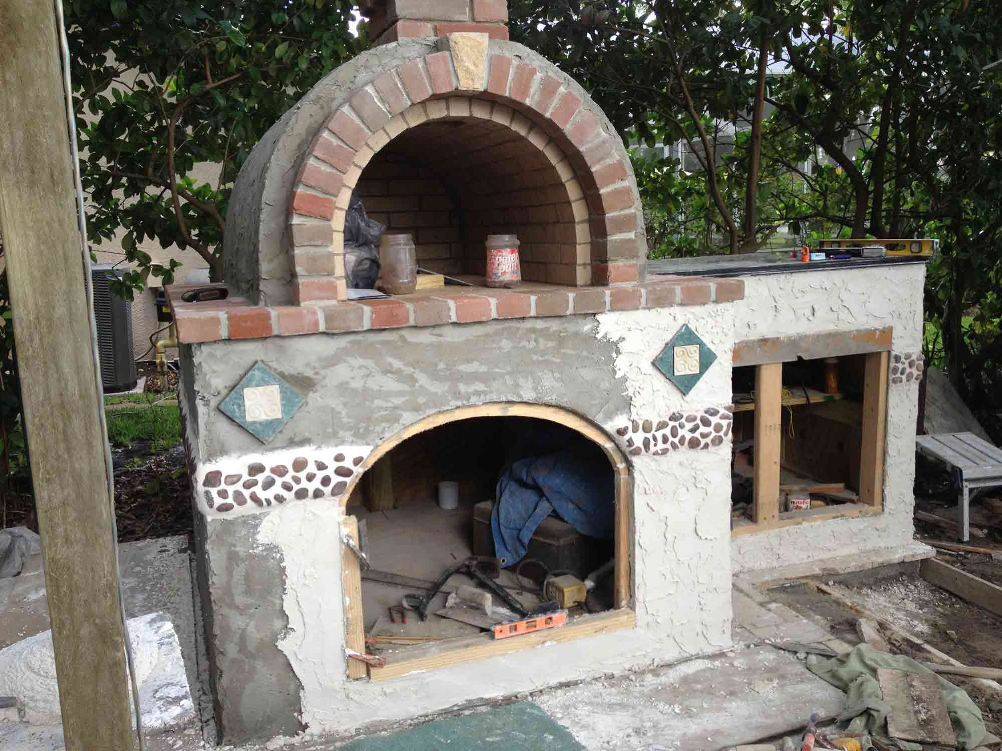 the peterson family wood fired brick pizza oven in florida mattone