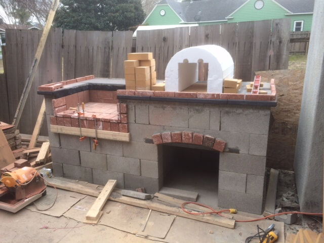 How To Build a Brick BBQ and Pizza Oven (4)