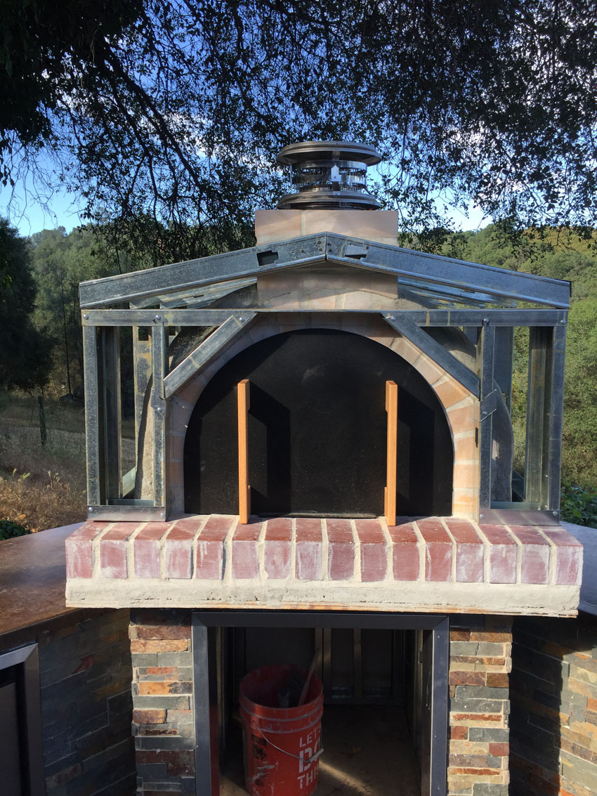 The Jimenez Family Wood-Fired Outdoor Brick Pizza Oven in ...