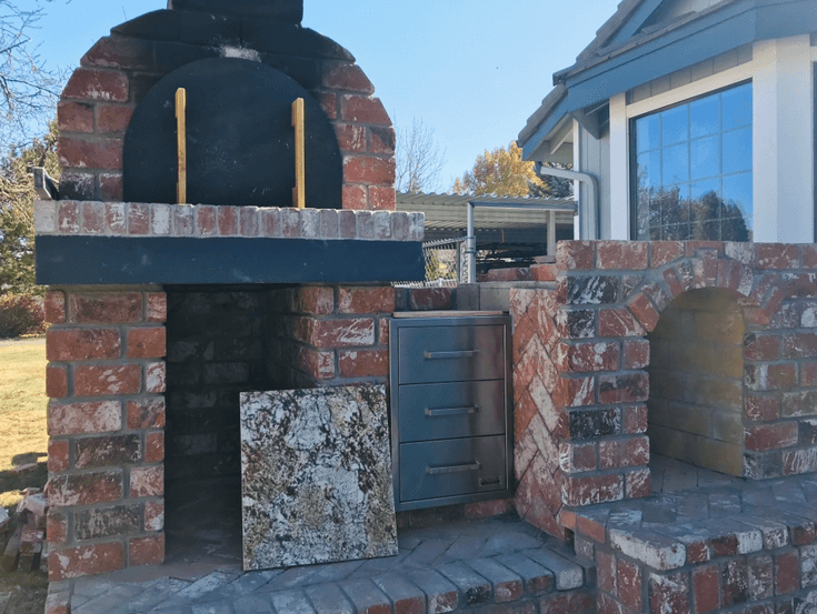 Pizza Oven Fireplace Combo (17)